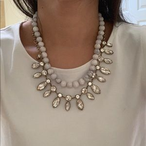 Anthropologie necklace double layer statement